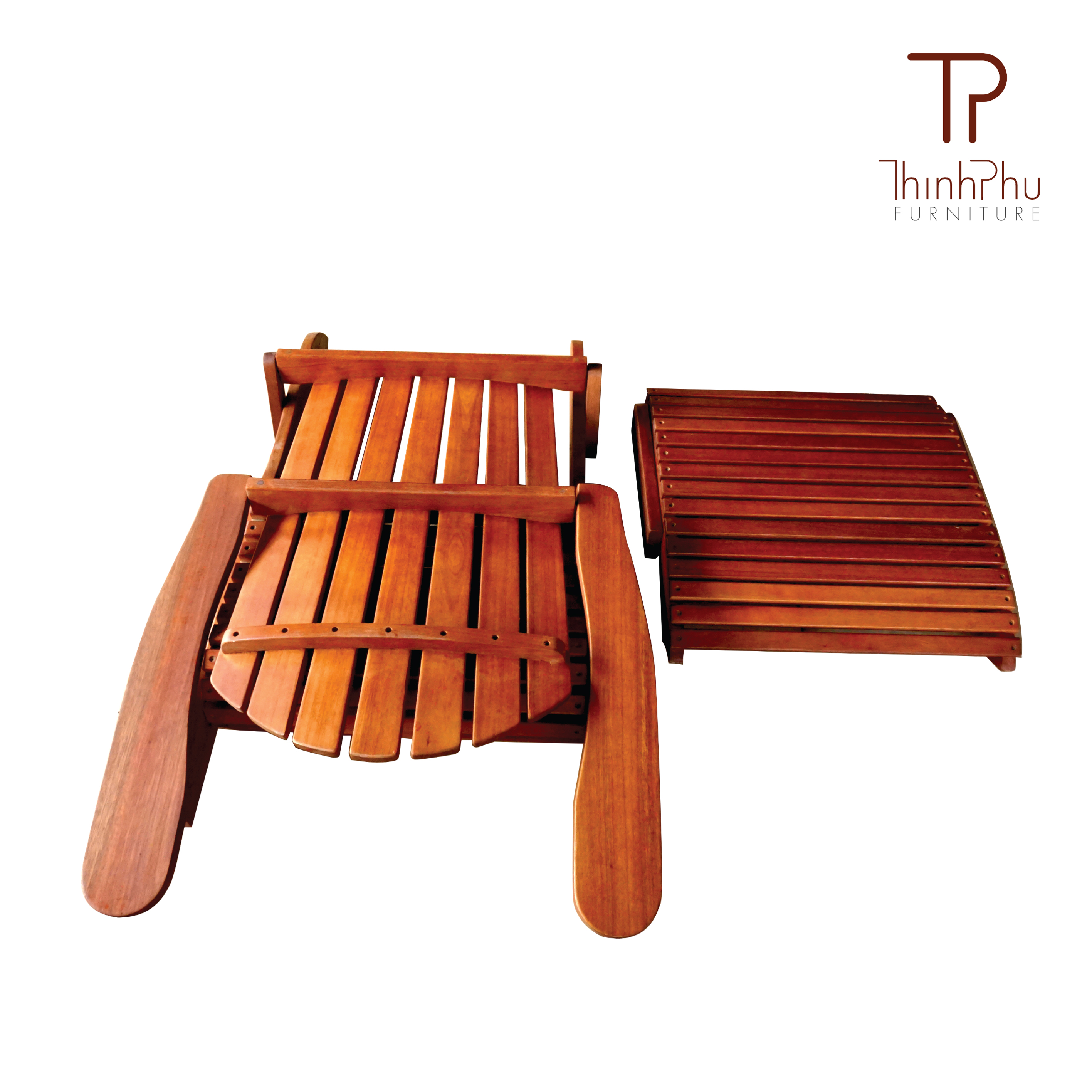 Adirondack chair with footrest luxius thinh phu furniture for Vietnam furniture