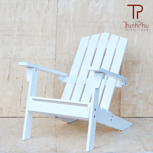 White adirondack chair 03 thinh phu furniture for Outdoor furniture vietnam