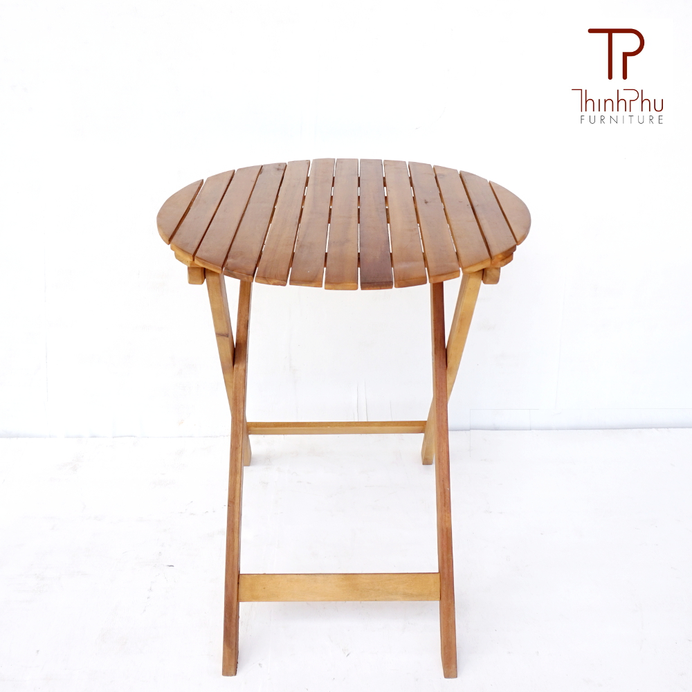 Folding round table tprt 03 furniture vietnam