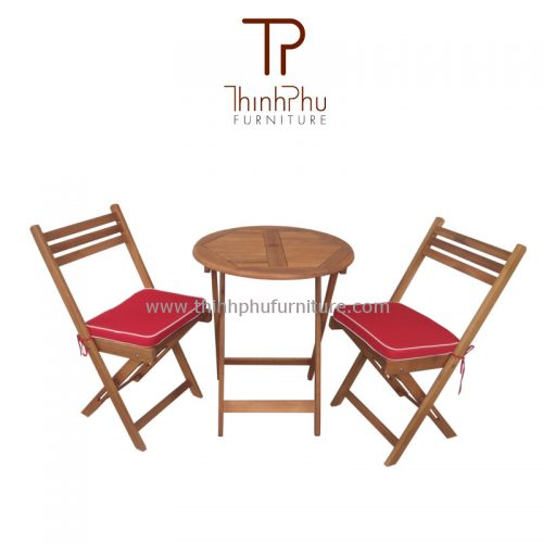 bistro set with cushion